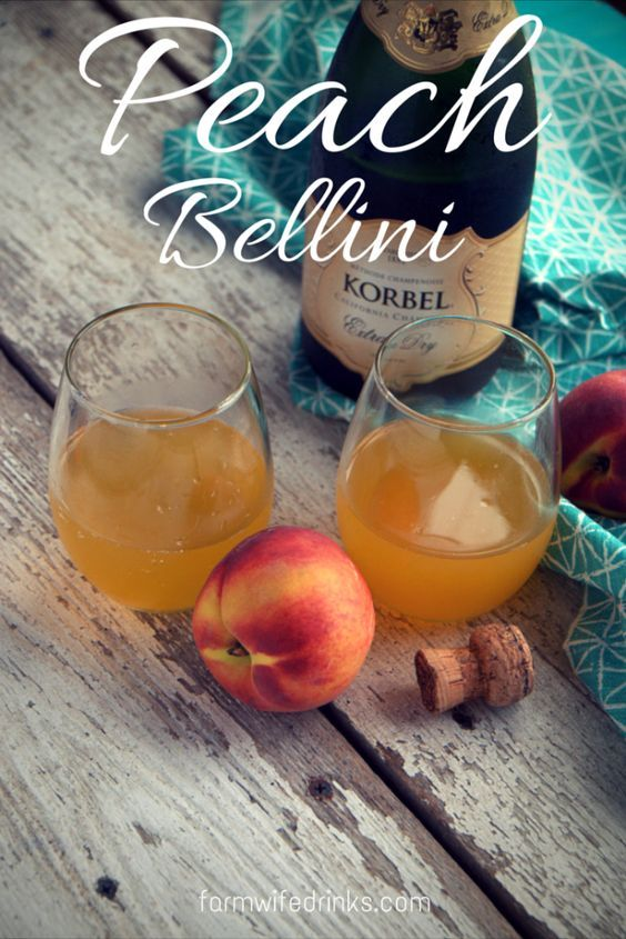 Need a brunch cocktail drink alternative to mimosas? Look no further than the Peach Bellini recipe.