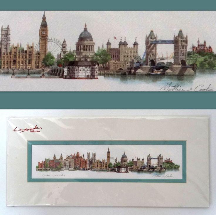 London Landmarks By Matthew Cook Original Signed Print