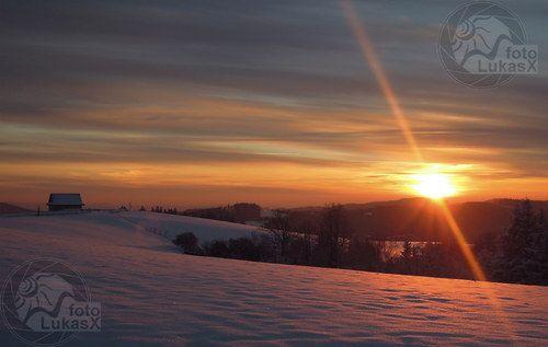 Zimní západ slunce / Winter time sunset