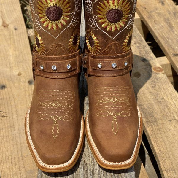 Women's Brown Natural Cowhide Leather