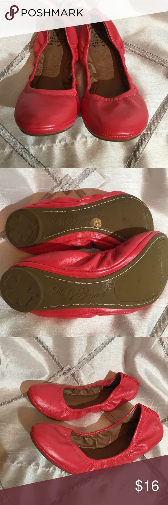 Lucky Brand Flats Used but only a couple times. Really great condition. Size 6 Lucky Brand Shoes Flats & Loafers