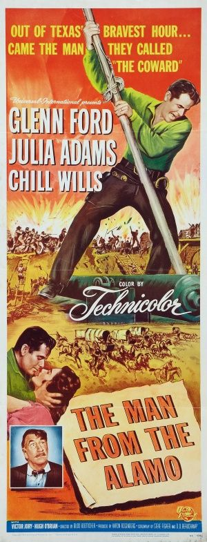 The Man From the Alamo is a 1953 Technicolor Western directed by Budd Boetticher, starring Glenn Ford, Julie Adams, Hugh O'Brian, and Guy Williams.