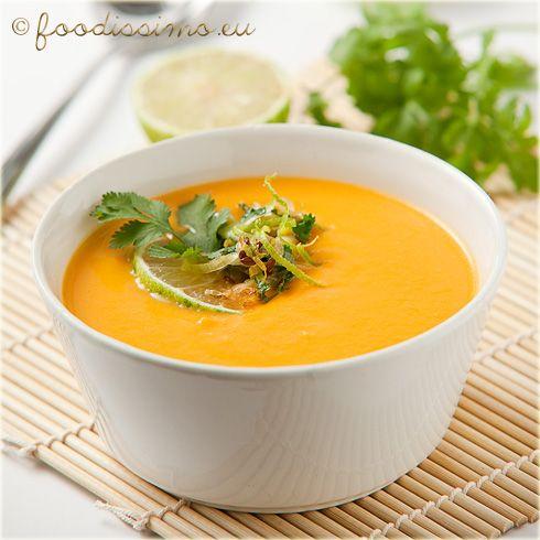 Mrkvová polievka so zázvorom a limetkou