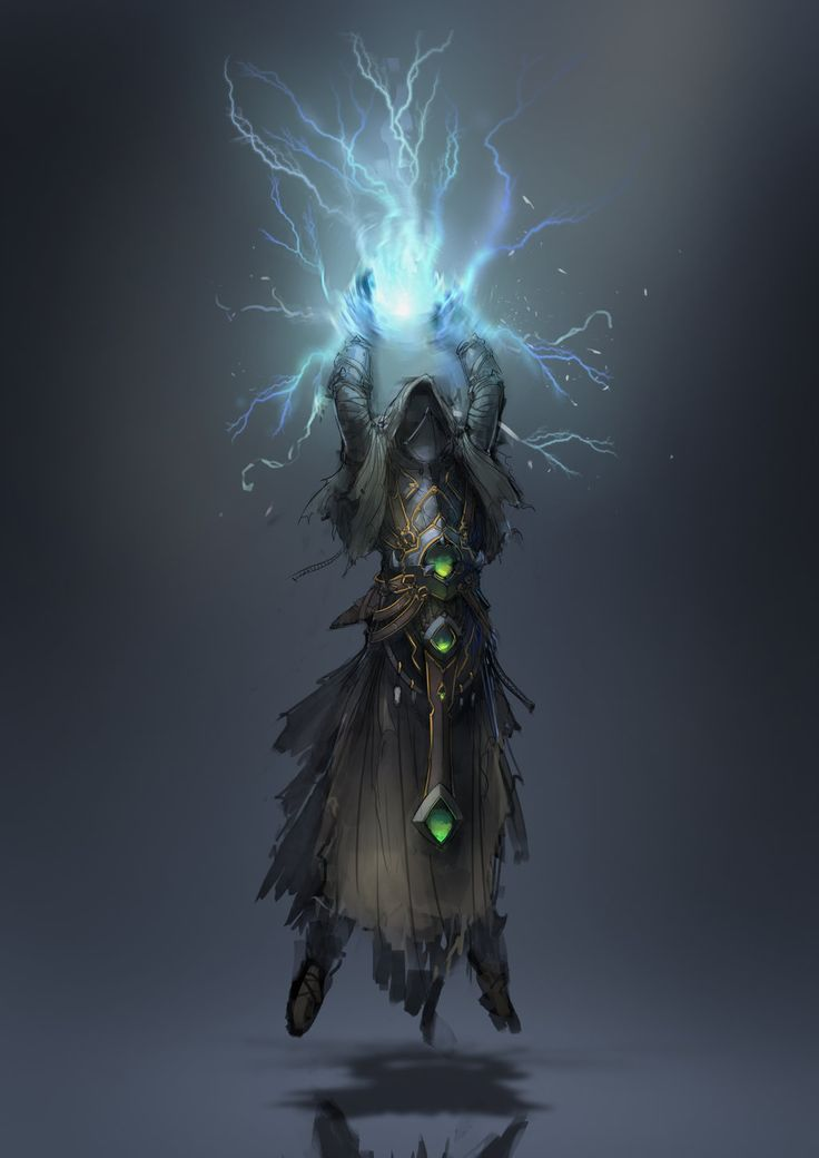 lightning mage by 2blind2draw.deviantart.com on @DeviantArt