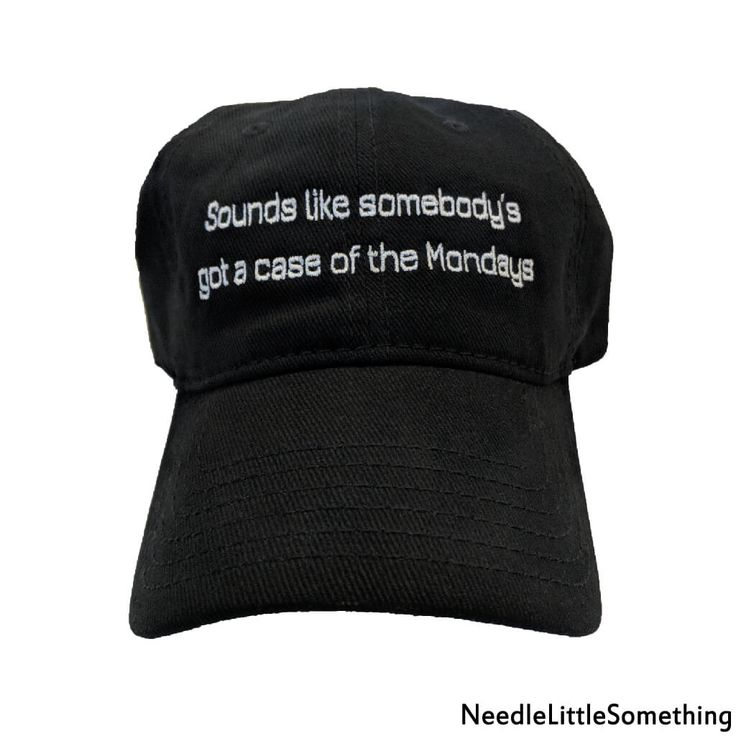 Looks like somebody's got a case of the Mondays! We have all had those gloomy, dreary Mondays that just drag on and on… How about something to pick up the pace and cheer you up with this hilarious custom embroidered hat! It's a perfect way to show respect to your boss on Manager Appreciation Day! Who knows, maybe you can finally get that promotion you have been waiting for? #MondayBlues #Mondays #ManicMonday #MondayFunday #Embroidered #Gifts #Hats #Personalized #Custom #Funny #Funnymemes
