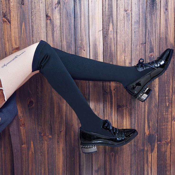 ТОЛЬКО НАСТОЯЩАЯ ЛЮБОВЬ обувь из натуральной кожи женщина зимние сапоги квадратные каблуки sexy women над коленом высокие сапоги