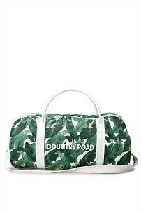 Leaf Print Logo Tote country road tropical bag
