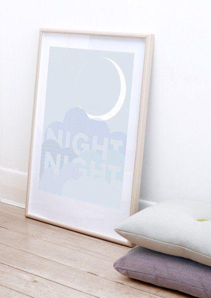 Friday & Today - Night, Night print (50 x 70cm)