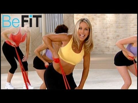 Denise Austin: Upper Body Resistance Workout- Arms, Chest & Shoulders - YouTube