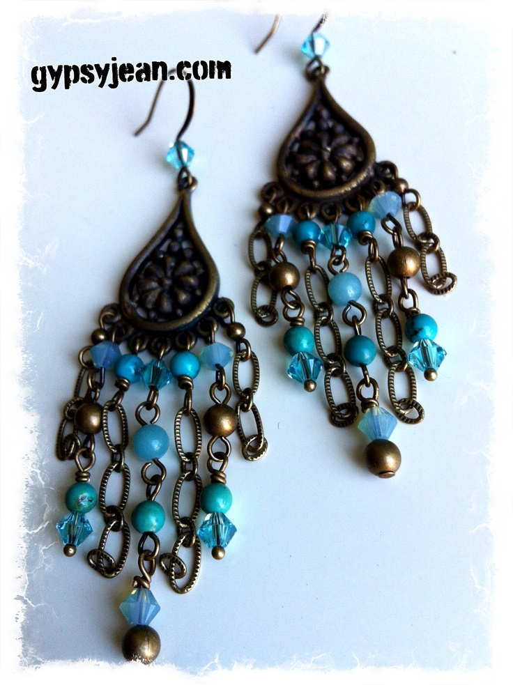 #chandelier #earrings #bohochic from @gypsyjean_  #jewellery will be at #artworldexpo2013 #vancouver check it out @Monika Blichar