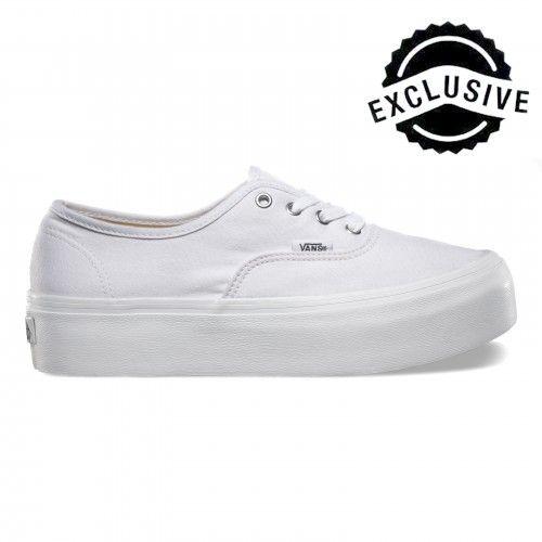 Vans Authentic Platform Shoes White