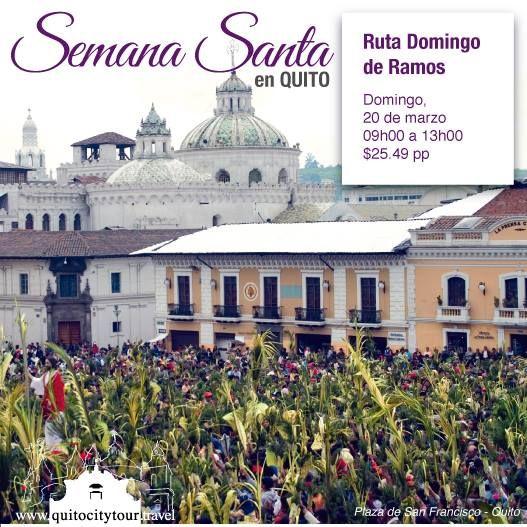 """#Domingo 20 de marzo, te invitamos a ser parte de la Ruta """"Domingo de Ramos"""" donde reviviremos el significado de la entrada triunfal de Jesús. También visitaremos templos e iconografías que hablan de la vida del Hijo de Dios. Y cerraremos el tour con una increíble exhibición de Ramos Ecológicos.  #Quito #Ecuador #Tour #Tradiciones #Experiencia Contáctanos y reserva tu cupo: (593) 9 9675 4263 / 9 9271 9026 / Worldwide: (593) 2 6042427"""