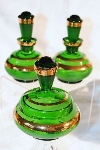 Vintage perfume bottles Green