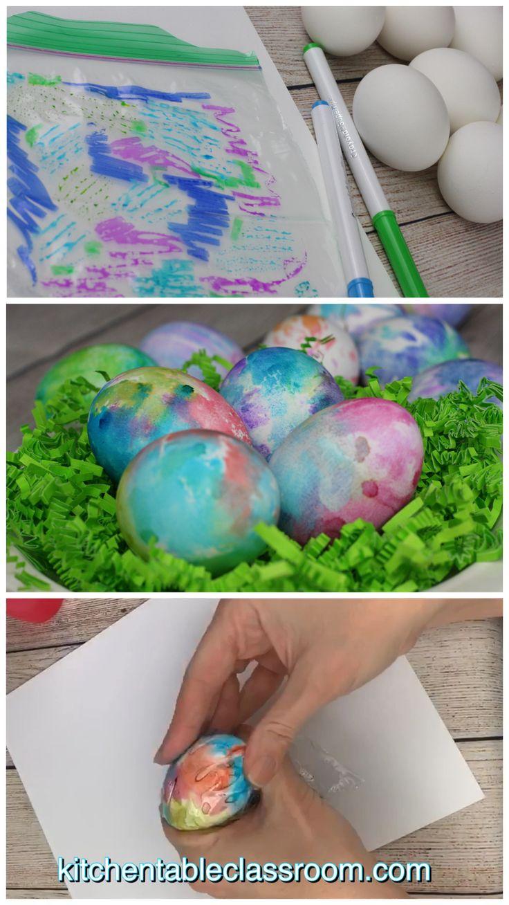 unglaublich  So dekorieren Sie Ostereier mit abwaschbaren Stiften - 3 einfache Möglichkeiten - Das Klassenzimmer am Küchentisch