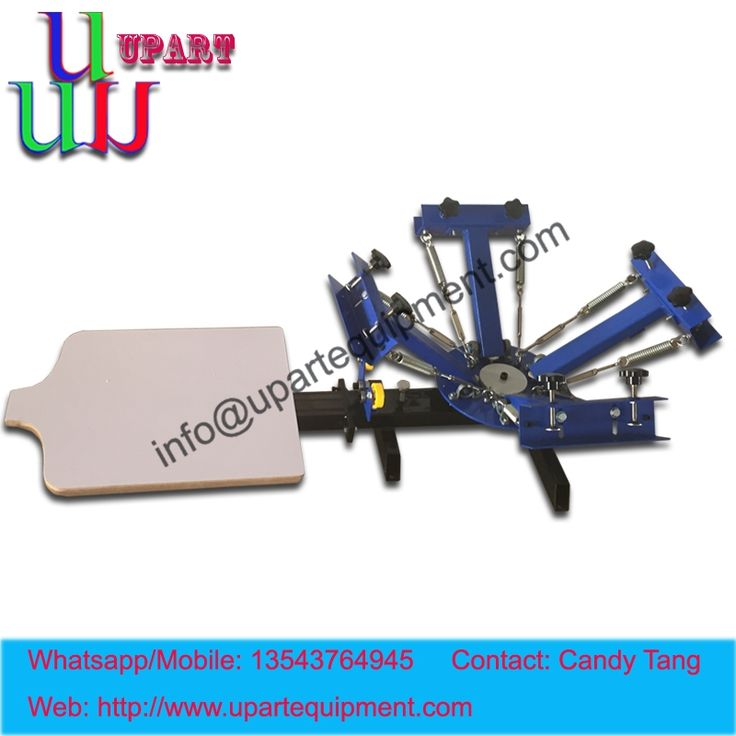566.00$  Watch here - http://alifwr.worldwells.pw/go.php?t=32741536324 - manual 4 color 1 station rotary screen printer for t-shirt,4 color t-shirt screen printer 566.00$