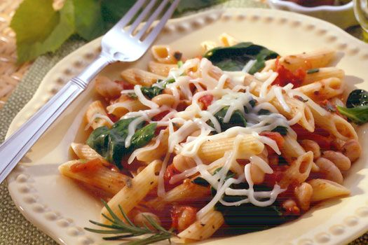 Penne Pasta with White Beans