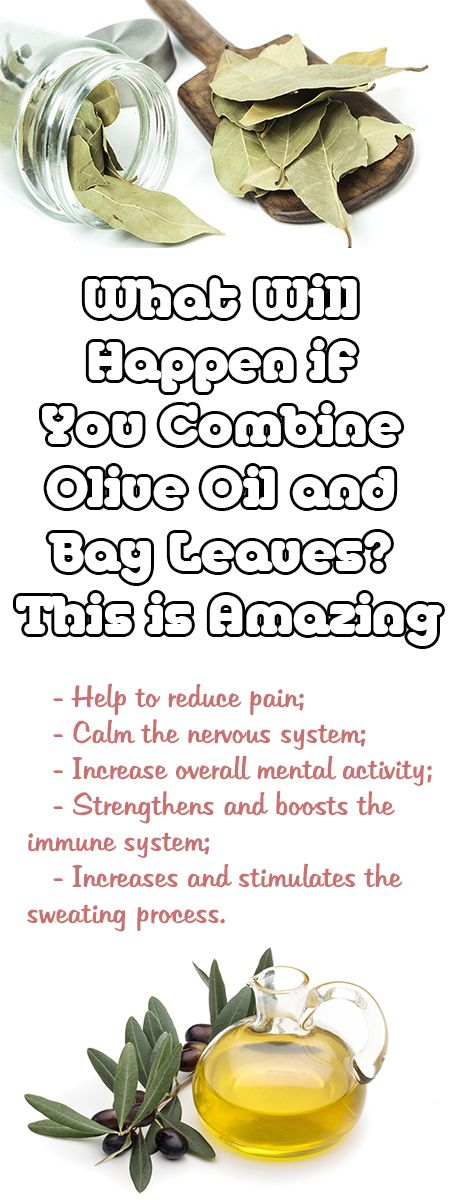 What Will Happen if You Combine Olive Oil and Bay Leaves? This is Amazing Bay leaf is very famous and popular spice and many people use it in different dishes. --sponsor-- But, did you know that this ingredient can be used to treat many health issues? You can use it as a healing oil which …