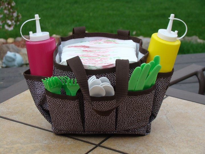 Our mini organizer works great at picnics or cookouts!