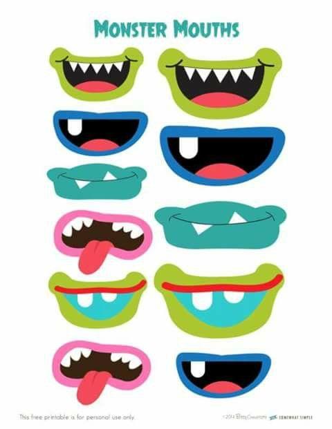 Mejores 10 imágenes de monstruos para armar en Pinterest   Fiesta de ...