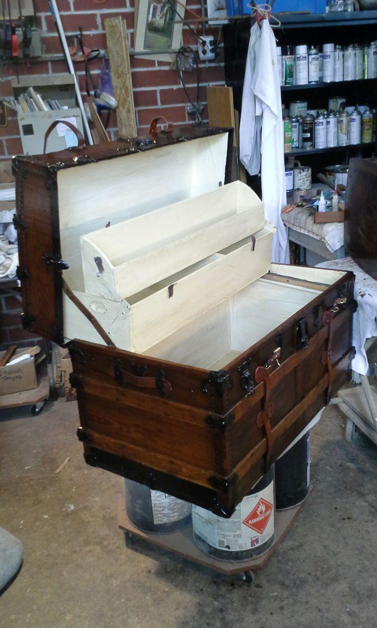 Old Steamer Trunk Restoration