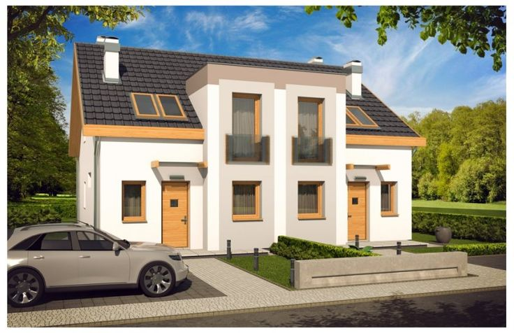 Ciekawa, chociaż prosta bryła podkreśla nowoczesny charakter budynku. Niewielkie gabaryty (segment szerokości zaledwie 6m) pozwalają maksymalnie wykorzystać dostępną powierzchnię terenu.