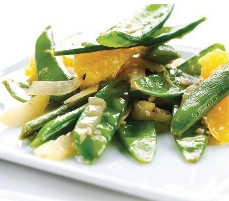 Green Beans, Mangetout With Toasted Hazelnuts + Orange Salad #Recipes