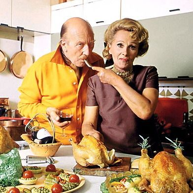 Fanny and Johnny Craddock, early British TV cooks