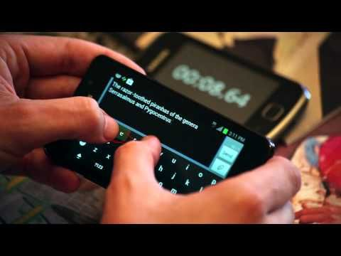 Keymonk keyboard - world record for fastest SMS. I JUST INSTALLED THIS ON MY TABLET AND IT'S THE GREATEST THING EVER. NO LIE! TWO FINGER SWYPE STYLE INPUT! GREATEST THING EVER