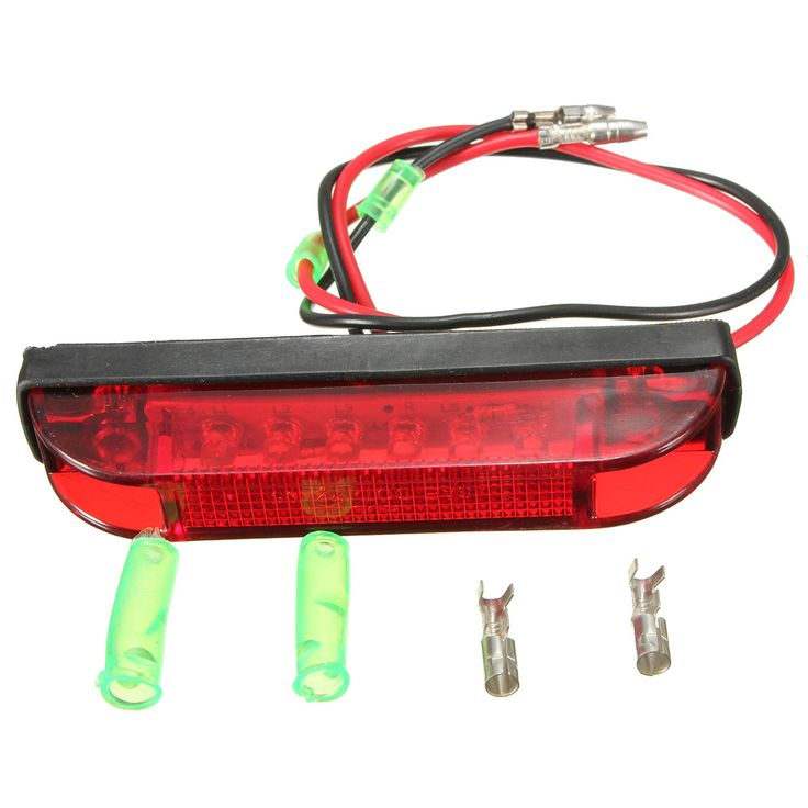6 LED Utility Strip LED Side Marker Clearance Light Lamp White Yellow Red Turn Signal Truck Trailer Lorry Stop Rear Lamp 1 PCS