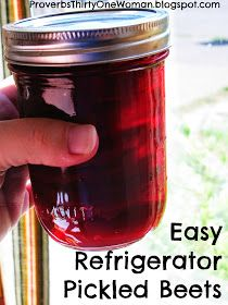 Proverbs 31 Woman: Easy Refrigerator Pickled Beets