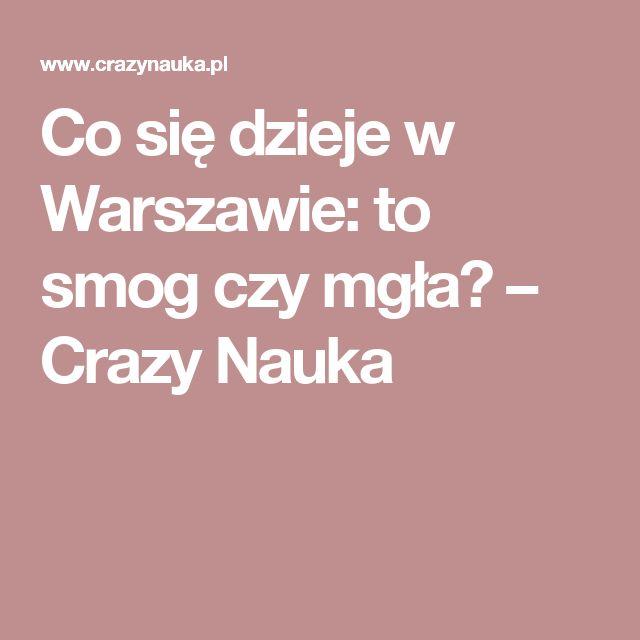 Co się dzieje w Warszawie: to smog czy mgła? – Crazy Nauka