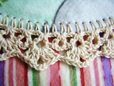 Crochet blanket edging Tutorial ✭Teresa Restegui http://www.pinterest.com/teretegui/ ✭
