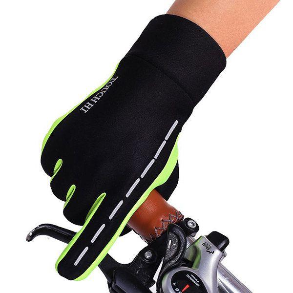 Mens Women Warm Fleece Outdoor Ski Cycling Gloves Full Finger Windproof Touch Screen Gloves
