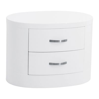 Dwell - £89. A contemporary take on a 1930s design, the art deco curves of this bedside will give your bedroom a little touch of class either side of your bed. With two drawers, it's great for storing all those things you need to hand in bed.