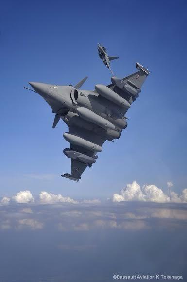 French Armée de l'Air Dassault Rafales.