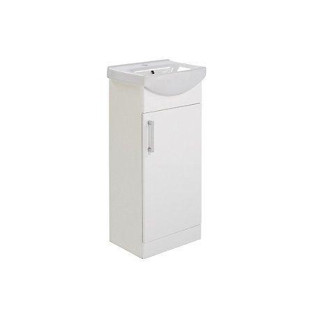 Ardenno Gloss White Cloakroom Vanity Unit & Basin Set | Departments | DIY at B&Q