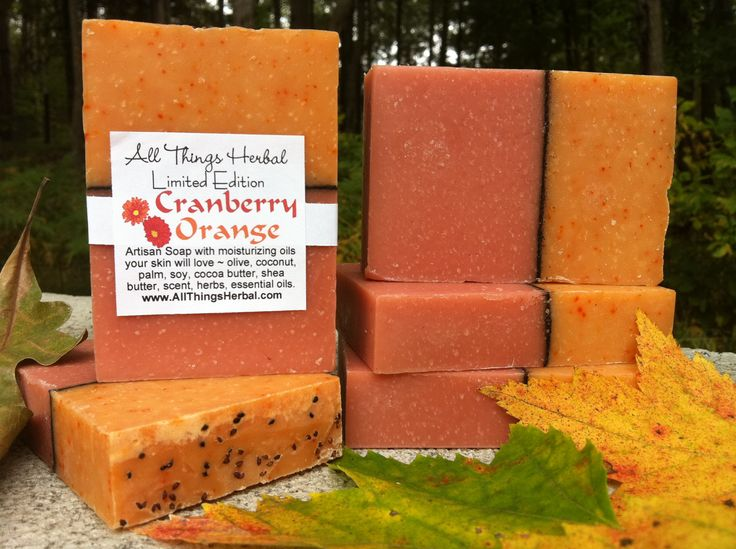 Cranberry Orange handcrafted soap for Fall