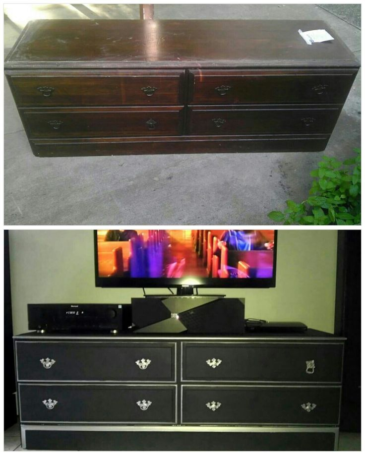 Second Hand Dresser Turned Into A Tv Stand