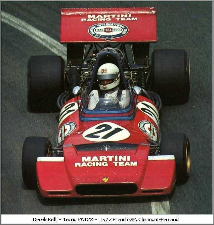 1972 GP Francji (Clermont Ferrand) Tecno PA123 (Derek Bell)