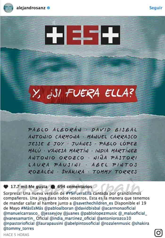"""Alejandro Sanz ha presentado en Madrid, su concierto de la gira """"Más es Más"""", después de haber batido todos los récord de venta de entradas, para su próximo concierto en el Estadio Vicente Calderón de Madrid"""