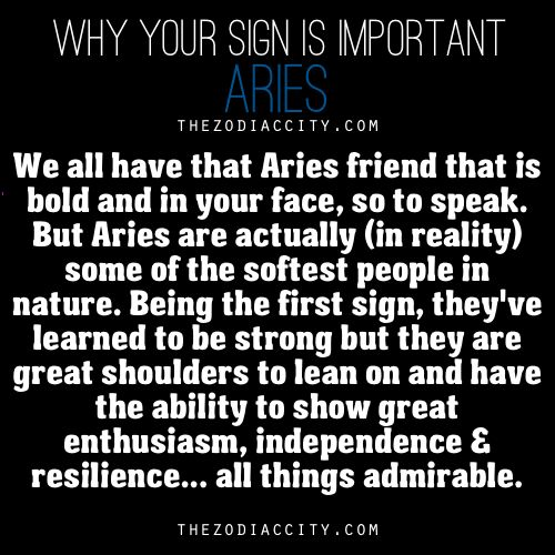 Why Your Sign Is Important: Aries.
