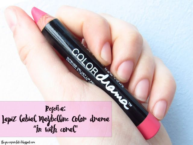 [Review] Lapiz labial Color drama In with coral - Maybelline - The Queen Snow White
