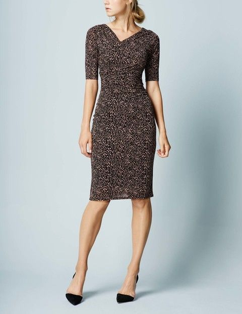 Rita Ruched Dress WH985 Smart Day at Boden