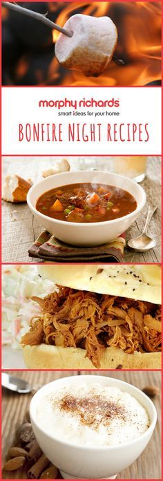 Make easy and delicious recipes for Bonfire Night with the Morphy Richards Compact Sear and Stew slow cooker, and the Morphy Richards Soup and Milk Maker. Try hearty Winter Broth, succulent pulled BBQ chicken and tempting melted marshmallow rice pudding.
