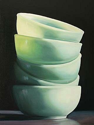 Sally Tharp. Jadeite. loveeeeeeee these little bowls ! :)