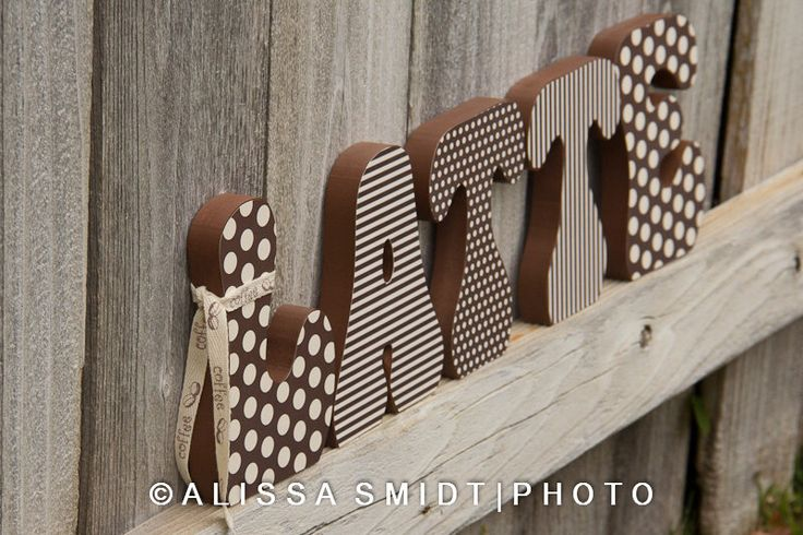Decorated Wooden Letters - LATTE (coffee theme, kitchen decor, custom letters, wood letters, home decor, coffee) by WanderlustbyAlissa on Etsy https://www.etsy.com/listing/171545649/decorated-wooden-letters-latte-coffee
