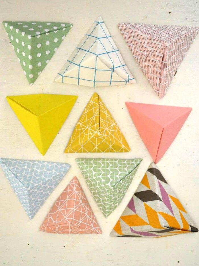 Folding little paper pyramids with Ingrid van Willenswaard from the blog Ingthings
