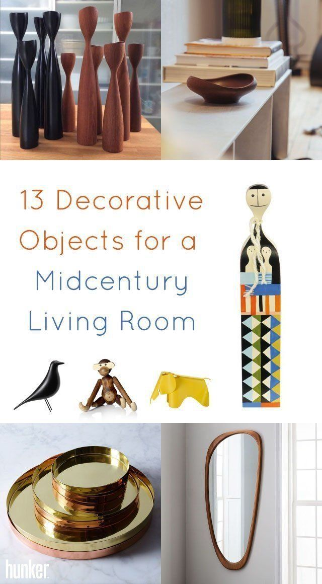Decorative Objects Living Room: 13 Decorative Objects For A Midcentury Living Room