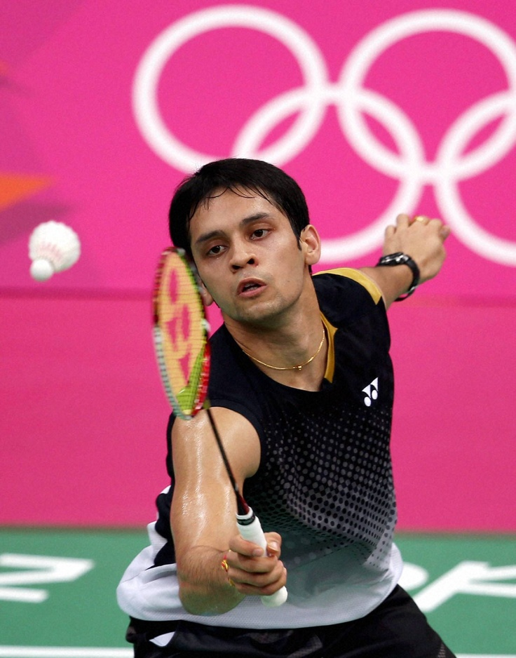 India's Kashyap Parupalli in action against Vietnam's Tien Minh Nguyen during their men's singles #badminton match at #Olympic Games 2012 in London. PTI Photo