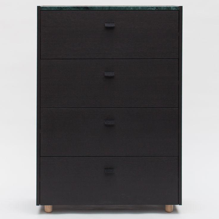 Loft byrå TE4, svart/grön marmor – Decotique – Köp online på Rum21.se